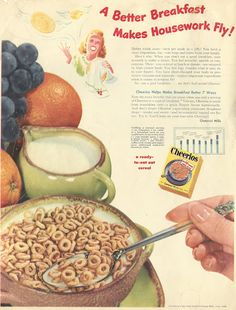 1948 ad: A Better Breakfast Makes Housework Fly