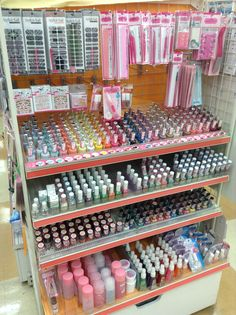 Nail polish, remover, gel coat, glitter get coat, nail sticker and other nail care - Can Do 100 yen shop Japan Daiso Store, Japanese Store, Greece Trip, Daiso Japan, Nail Stickers, Okinawa, How To Remove, How To Make, Nail Care