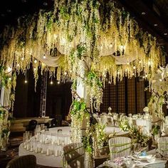 15 Strands Hanging Silk Wisteria Flowers