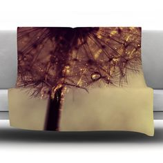 East Urban Home Droplets of Gold Fleece Throw Blanket Size: 60'' L x 50'' W