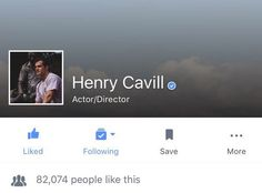 We have confirmation from Henry Cavill's publicist that he is officially on Instagram & Facebook, but not Twitter.