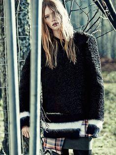Гранж Вдохновил Осенний Образ От Журнала Elle Швеция
