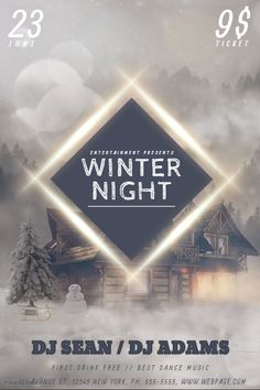 winter party flyer template postermywall