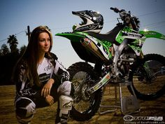 Sara Price is new in the Women's Motocross Class this year.. Hell ya.. You go girl