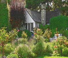 Cottage Garden Inspiration from Carmel-by-the-Sea —studio 'g' garden . Cute Cottage, Cottage Style, Beautiful Homes, Beautiful Places, Simply Beautiful, Fairytale Cottage, Cottage Gardens, Carmel California, Northern California