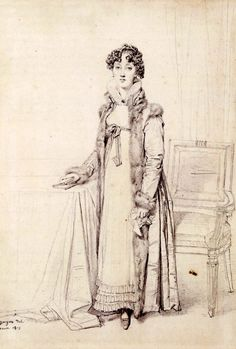 Lady William Henry Cavendish Bentinck, born Lady Mary Acheson - Jean Auguste Dominique Ingres