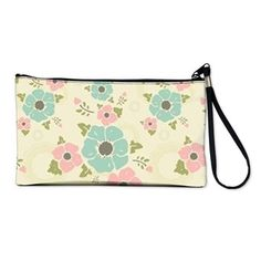"Nostalgic flowers Clutch Bag Beige seamless vintage pattern ""Nostalgic flowers""  $51.99"