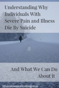 It is an undeniable fact that individuals with chronic pain have a higher prevalence rate of suicide than the general population. Tang and Crane (2006) summarized the results of 12 articles examini…