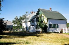 Green Gables, the home of Matthew and Marilla Cuthbert and Anne.