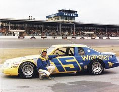 1983 - Dale Earnhardt in Bud Moore's Ford.