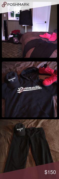 J. Cole Dreamville original hoodie. J. Cole Dreamville hoodie x BLACKHat original x Velvet sweatpants Dreamville x BLACKHat x Velvet Sweaters