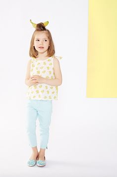 Fun banana prints for girls fashion spring 2016 at Billieblush