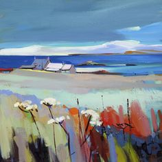 Pam Carter - Early Snow - Iona - Gullane Art Gallery
