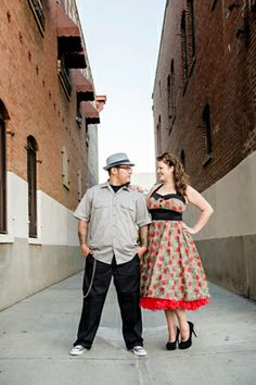Retro Vintage City Engagement Session by Jason Burns Photo on Marry Me Metro http://marrymemetro.com