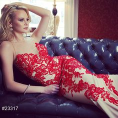 Jovani 23317 Lace Applique Prom Dress Evening Gown In Stock