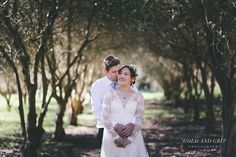 An olive grove turned out to be the perfect backdrop for some gorgeous portraits. Wedding Portraits at The Orchard Luxury B&B, Red Hill South, Mornington Peninsula. Melbourne Wedding Photography.