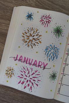 #bulletjournal #bujo #stationary #journaling #calligraphy #planner #january #fireworks