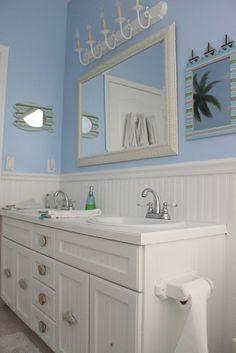 Shabby Chic Craft Corner: My Boys Shabby Chic Bathroom