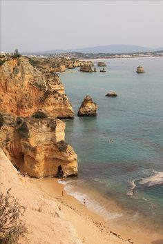 Lagos, Portugal www.thegirlswhowander.com Grand Canyon, Portugal, Beach, Water, Travel, Life, Outdoor, Gripe Water, Outdoors