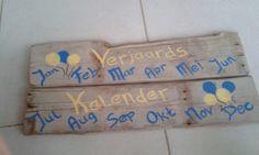 Het begin van mijn Verjaardags kalender is er :)