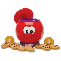 Count & Learn Cookie Jar Numbers Learning Toy - Educational Toys Planet. Great gift for 2 years old child. Imagine, that whenever your kids get cookies from the cookie jar, they actually learn counting and numbers! Develops Skills - counting, numbers, manipulative skills, thinking skills. #toys #learning #educational #gifts #child https://www.educationaltoysplanet.com/count-learn-cookie-jar.html