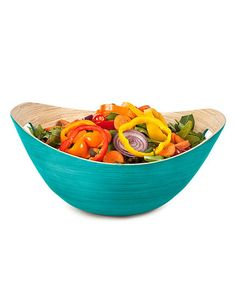 Love this Teal Large Bucket Bowl on #zulily! #zulilyfinds