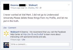 This person who most definitely did not work at Walmart. | 23 People Who Have No Idea How Walmart's Facebook Page Works
