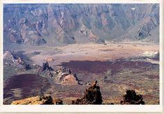 Las Canadas Caldera, Tenerife, Canary Islands,    at the summit of Mount Teide. It is the third highest island volcano in the world. The crater is sixteen kilometres across.  Sheer walls that formed when the caldera first collapsed encircle this dry and alien place.  A sleeping yet still active  volcano.  Source:SantaBanta.com