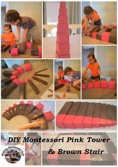"""Making Montessori Ours"": DIY Montessori Pink Tower & Brown/Broad Stair"