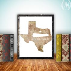 Texas art Print, Printable art wall texan western decor, come and take it, inspirational quote - texas quote digital INSTANT DOWNLOAD on Etsy, $5.00
