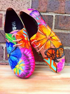 Hand Painted Shoes. by JenniferRaeArtwork on Etsy, $55.00