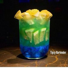 Amazonas Lemon Cocktail - For more delicious recipes and drinks, visit us here: www.tipsybartender.com