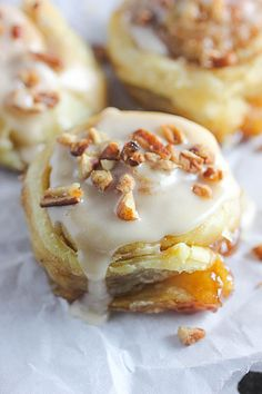 Puff Pastry Cinnamon Rolls with Maple Icing | Brown Sugar