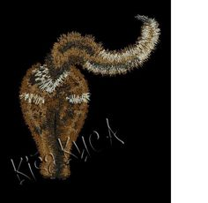 Cat back and tail free embroidery design - Animals free embroidery designs - Machine embroidery community