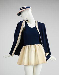 Vera Maxwell (American, 1903–1995). Tennis ensemble, ca. 1976. The Metropolitan Museum of Art, New York. Brooklyn Museum Costume Collection at The Metropolitan Museum of Art, Gift of the Brooklyn Museum, 2009; Gift of Vera Maxwell, 1979 (2009.300.531a–c)