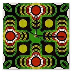 Clock Samba, Sunday, Clock, Retro, Diamond, Wall, Watch, Domingo, Diamonds