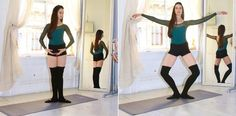 Ballet beautiful workout: Thighs: Pliés in First Position