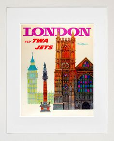 London Vintage Travel Poster Wall Art Print ZT425