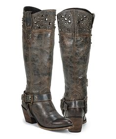 If only i had a bunch if mobry lol Look what I found on #zulily! Black Star Blue Regulus Leather Western Boot by Black Star #zulilyfinds