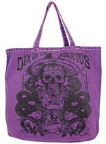 Day of the Dead Vintage Denim Tote