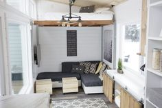 A Tiny House with a Unique (& Clever!) Bedroom Solution — Ana White