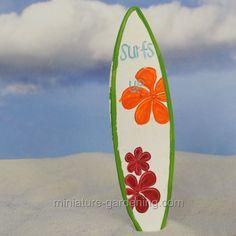 Miniature Gardening - Surfs Up Surf Board  #miniaturegardening #fairygarden #planningaminiaturegarden