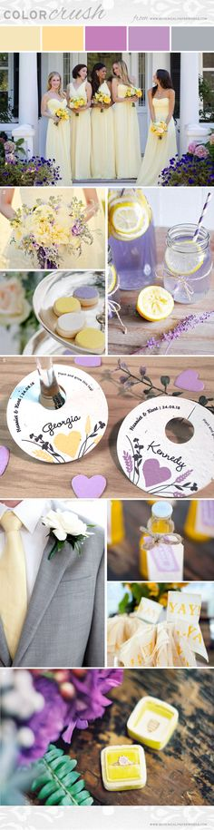 Soft yellow shades have the power to grab attention while making people feel happy, relaxed and optimistic. Since this shade is so cheerful and radiant, it's the perfect choice for summer weddings when paired with lilac and lavender