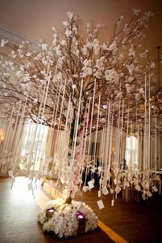 Grace Ormand - wish tree / would be neat idea (smaller scale) for baby shower?