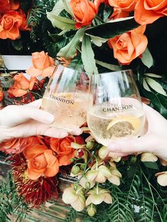 Cheers to afternoons, sunsets and outdoor sessions with Chandon S, just add friends! Rose Cocktail, Party Platters, Sparkling Wine, Orange Peel, Blood Orange, Wine Glass, Alcoholic Drinks, Add Friends, Beach Weddings