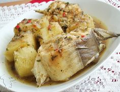 Fresh fish and yam pepper soup