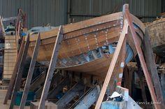 Construction d'une yole de Bantry au Chantier du Guip