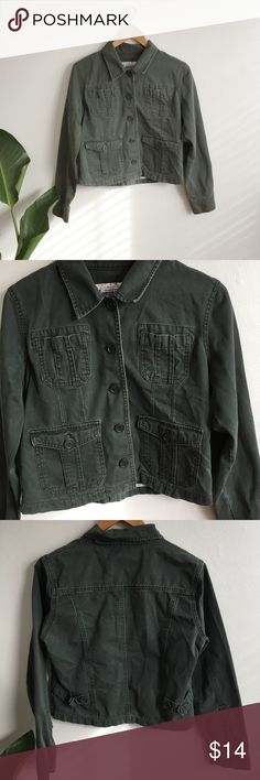 Vintage Army Green Jacket Brand is By Anchor Blue. In good condition. Urban Outfitters Jackets & Coats Utility Jackets