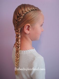 Half French braid I want to learn how to do this