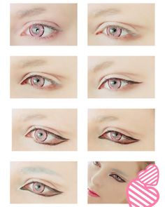 I tried out another tutorial since the last collage got so much attention... Um it's supposed to be makeup for Clear from Dmmd but I'm not happy with it. I'll leave it up for a bit because I feel it is probably handy for some people anyway but know that I'm working on doing another more accurate collage for Clear in the future. #eyetutorial #cosplaymakeup
